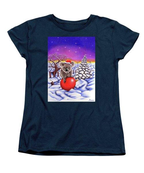Koala On Christmas Ball Women's T-Shirt (Standard Cut) by Remrov