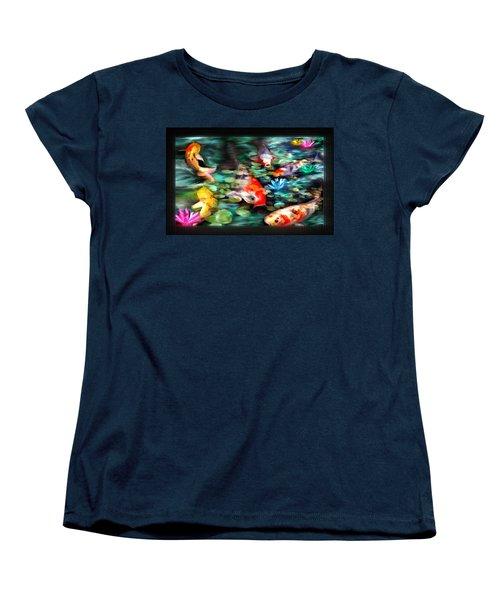 Koi Paradise Women's T-Shirt (Standard Cut) by Susan Kinney