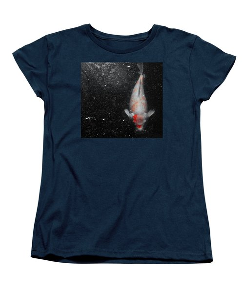 Women's T-Shirt (Standard Cut) featuring the photograph Koi Approach by Deborah  Crew-Johnson