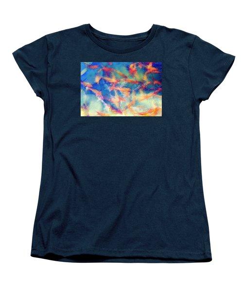 Kolorful Koi Series Women's T-Shirt (Standard Cut) by Joseph S Giacalone