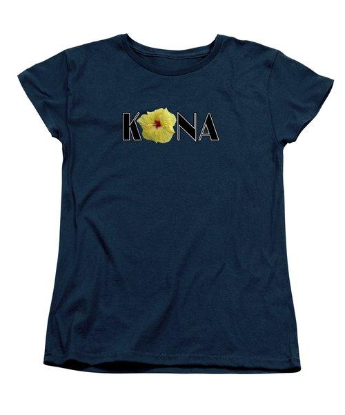 Kona Hibiscus Women's T-Shirt (Standard Cut) by David Lawson