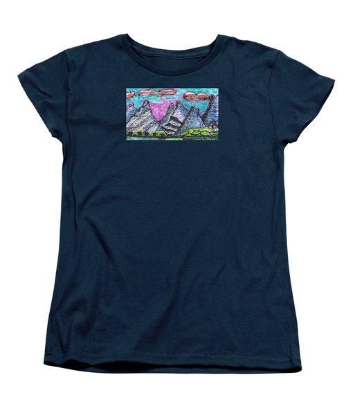 Korean Hills Women's T-Shirt (Standard Cut) by Don Koester