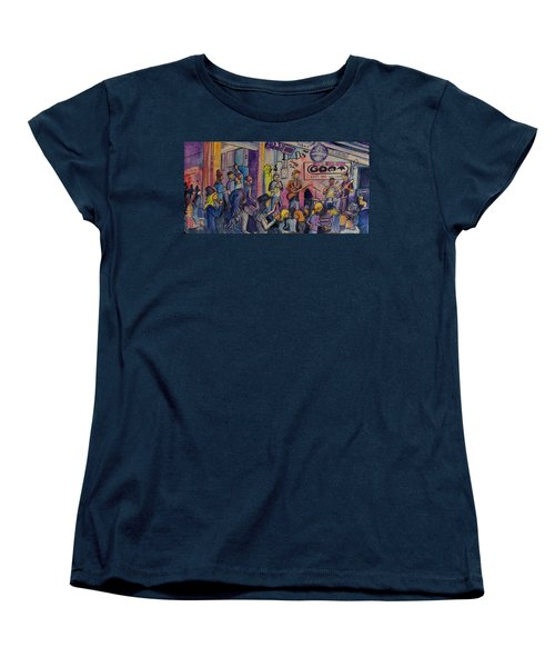 Kris Lager Band At The Goat Women's T-Shirt (Standard Cut) by David Sockrider