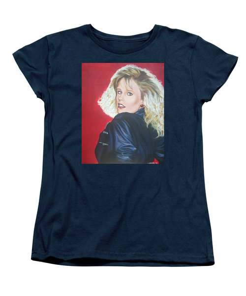 Women's T-Shirt (Standard Cut) featuring the painting Kristi Sommers by Bryan Bustard