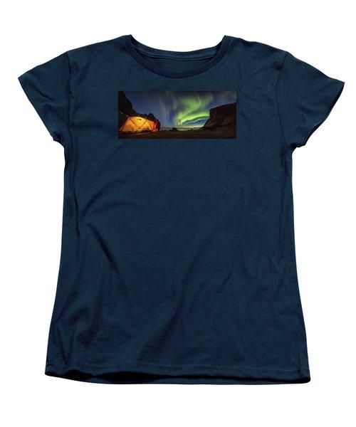 Kvalvika Under The Lights Women's T-Shirt (Standard Cut)