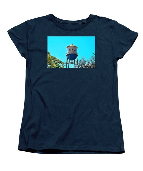 Kyle Texas Water Tower Women's T-Shirt (Standard Cut) by Ray Shrewsberry