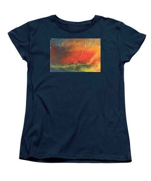 Women's T-Shirt (Standard Cut) featuring the painting La Caleta Del Diablo by Jackie Mueller-Jones