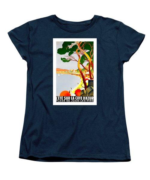La Cote D Azur French Riviera 1930 Roger Broders Women's T-Shirt (Standard Cut) by Peter Gumaer Ogden Collection