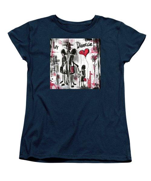 Women's T-Shirt (Standard Cut) featuring the digital art La Divorce  by Sladjana Lazarevic