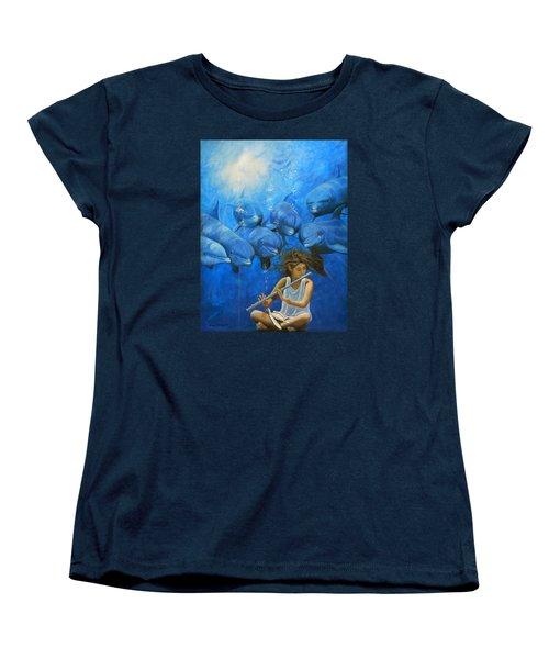 La Flautista Women's T-Shirt (Standard Cut) by Angel Ortiz