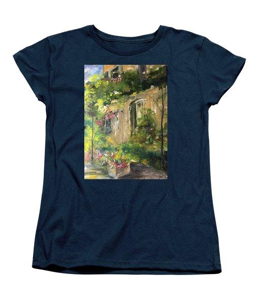 La Maison Est O Le Coeur Est Home Is Where The Heart I Women's T-Shirt (Standard Cut) by Robin Miller-Bookhout