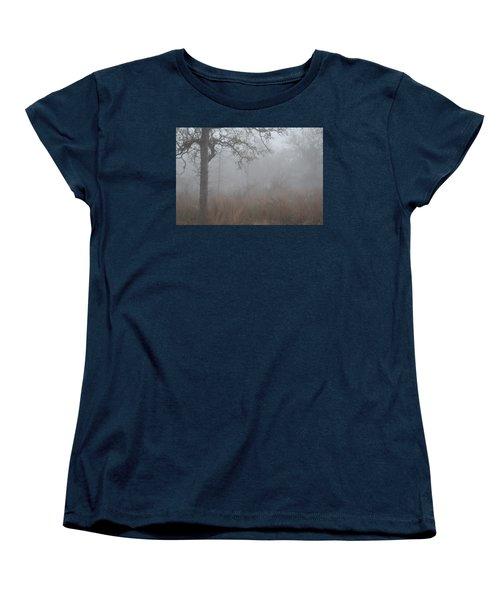 Women's T-Shirt (Standard Cut) featuring the photograph La Vernia Fog IIi by Carolina Liechtenstein