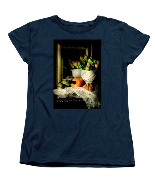 Lace And Mirror Women's T-Shirt (Standard Cut) by Diana Angstadt