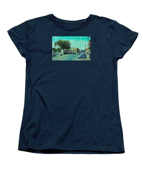 Women's T-Shirt (Standard Cut) featuring the photograph Laconia N H Colored Pencil by Mim White