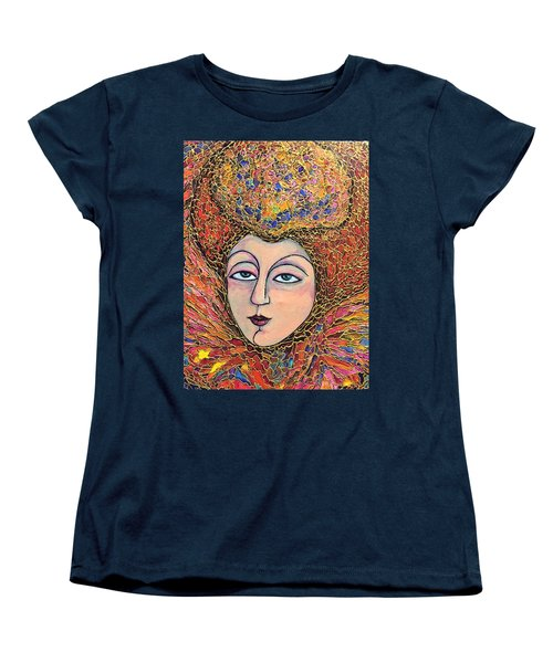 Women's T-Shirt (Standard Cut) featuring the painting Lady-in-waiting by Rae Chichilnitsky