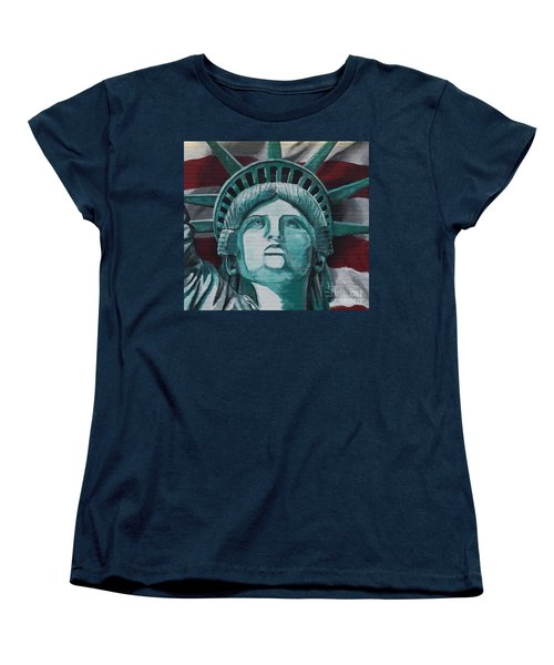 Lady Liberty Women's T-Shirt (Standard Cut) by Stan Tenney