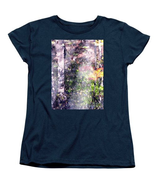 Lady On Water Women's T-Shirt (Standard Cut) by Melissa Stoudt