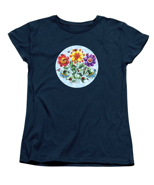 Ladybug Playground On A Summer Day Women's T-Shirt (Standard Cut) by Shelley Wallace Ylst