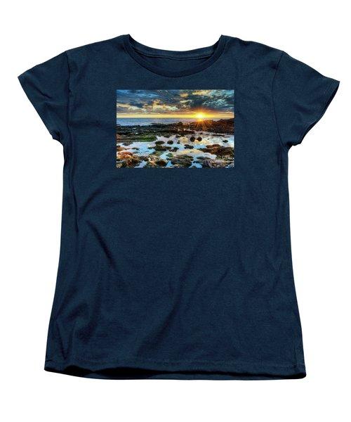 Laguna Beach Tidepools Women's T-Shirt (Standard Cut) by Eddie Yerkish