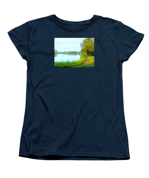 Lake And Woods Women's T-Shirt (Standard Cut) by Craig Walters