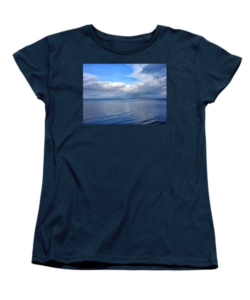 Women's T-Shirt (Standard Cut) featuring the photograph Lake Champlain From New York by Brendan Reals