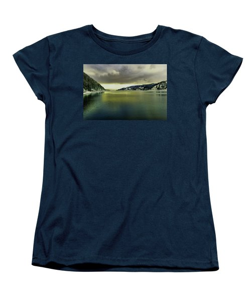 Women's T-Shirt (Standard Cut) featuring the photograph Lake Coeur D' Alene by Jeff Swan
