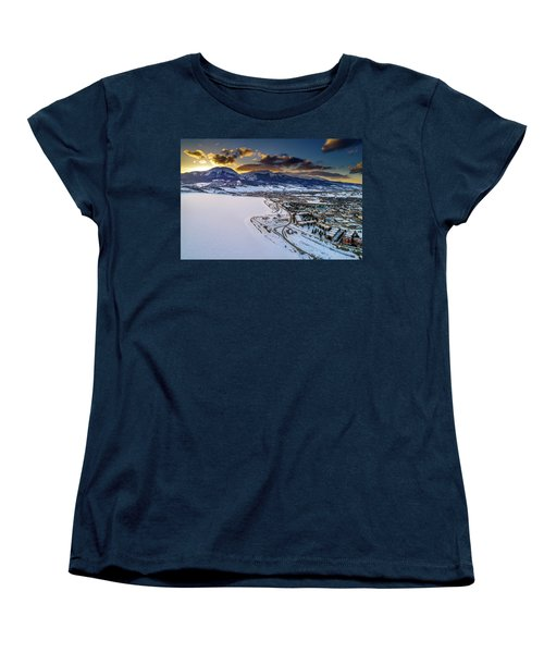 Women's T-Shirt (Standard Cut) featuring the photograph Lake Dillon Sunset by Sebastian Musial