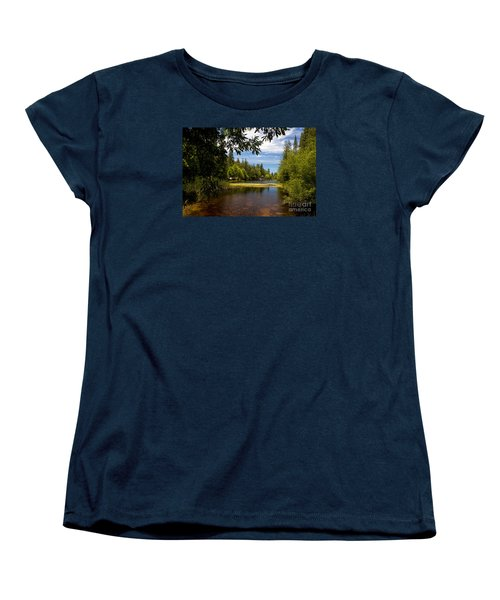 Lake Fulmor View Women's T-Shirt (Standard Cut) by Ivete Basso Photography
