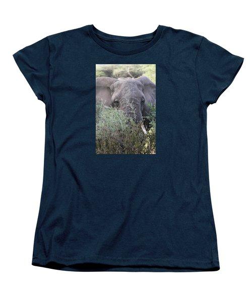 Women's T-Shirt (Standard Cut) featuring the photograph Lake Manyara Elephant by Gary Hall