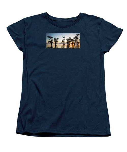 Women's T-Shirt (Standard Cut) featuring the photograph Lake Maurepas Sunrise by Andy Crawford