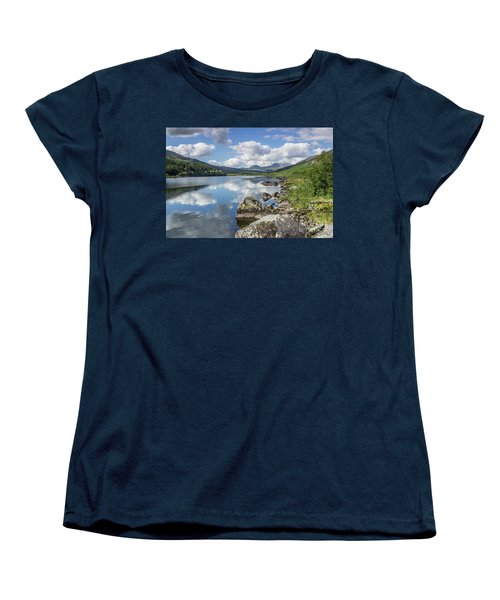 Women's T-Shirt (Standard Cut) featuring the photograph Lake Mymbyr And Snowdon by Ian Mitchell
