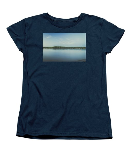 Lake Scene Women's T-Shirt (Standard Cut) by Scott Meyer
