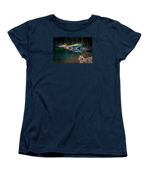 Kayaks At Rest Women's T-Shirt (Standard Cut) by Menachem Ganon