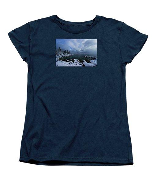 Lake Tahoe Snow Day Women's T-Shirt (Standard Cut) by Sean Sarsfield