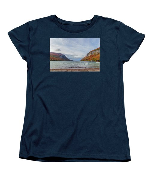 Lake Willoughby Blustery Fall Day Women's T-Shirt (Standard Cut) by Tim Kirchoff