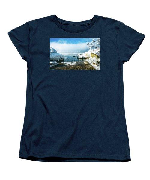 Women's T-Shirt (Standard Cut) featuring the photograph Lake Winnisquam by Robert Clifford