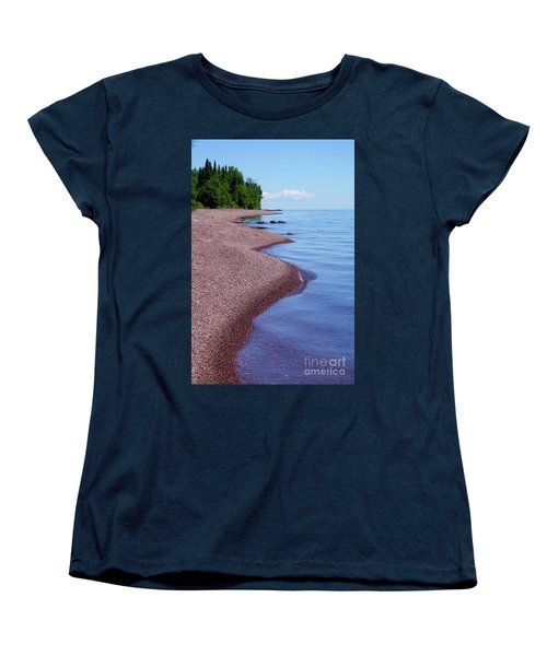 Lakewalk On The Superior Hiking Trail Women's T-Shirt (Standard Cut) by Sandra Updyke