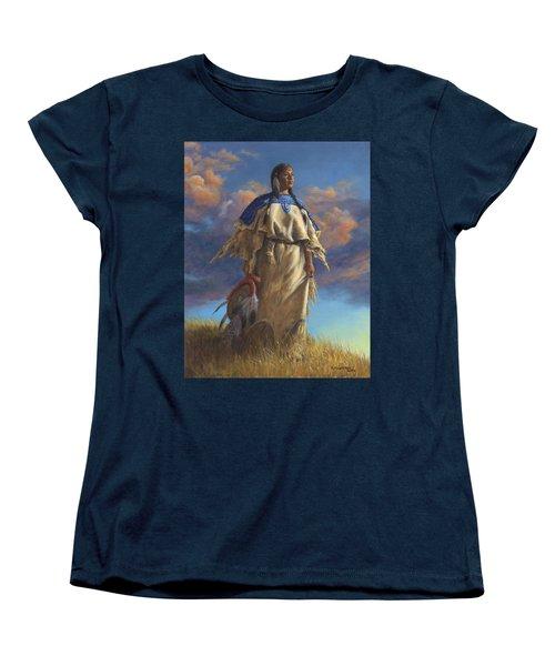 Lakota Woman Women's T-Shirt (Standard Cut) by Kim Lockman
