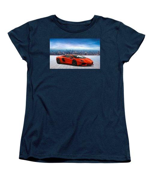 Lambo Cityscape Women's T-Shirt (Standard Cut) by Peter Chilelli