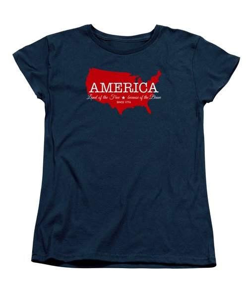 Land Of The Free Women's T-Shirt (Standard Cut)