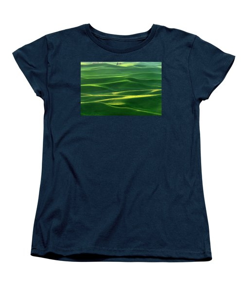 Land Waves Women's T-Shirt (Standard Cut) by Ryan Manuel