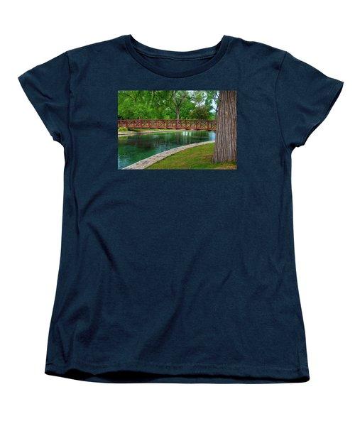 Landa Park Bridge Women's T-Shirt (Standard Cut) by Kelly Wade
