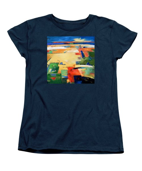 Women's T-Shirt (Standard Cut) featuring the painting Landforms, You've Never Been Here by Gary Coleman