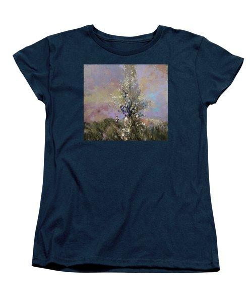 Landscape . I Was Lucky Today. Women's T-Shirt (Standard Cut)