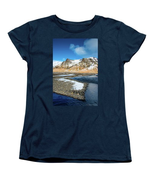 Landscape Sudurland South Iceland Women's T-Shirt (Standard Cut) by Matthias Hauser