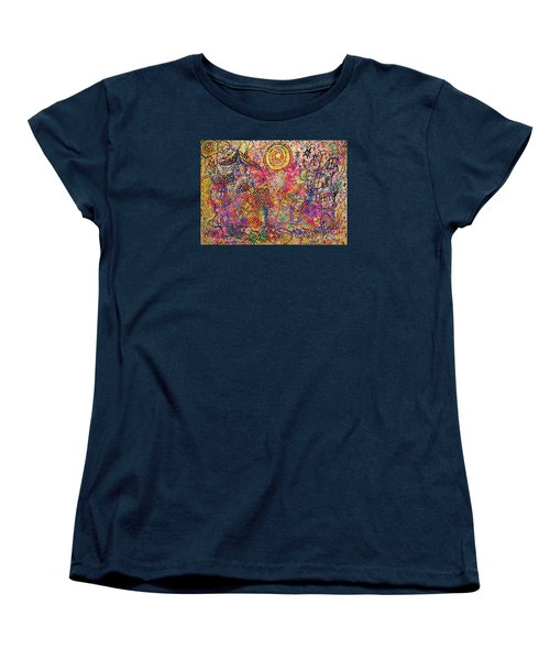 Landscape With Dots Women's T-Shirt (Standard Cut) by Mimulux patricia no No
