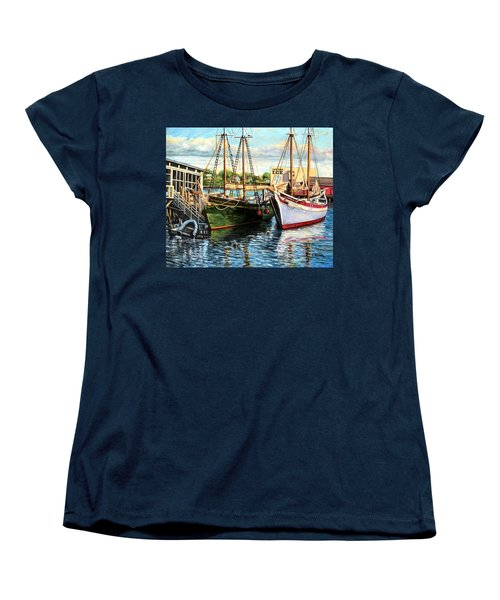 Lannon And Ardelle Gloucester Ma Women's T-Shirt (Standard Cut) by Eileen Patten Oliver