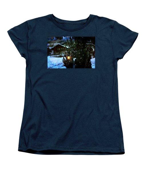 Lantern In The Woods Women's T-Shirt (Standard Cut) by Vittorio Chiampan