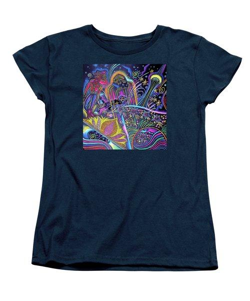 Women's T-Shirt (Standard Cut) featuring the painting Las Vegas by Leon Zernitsky