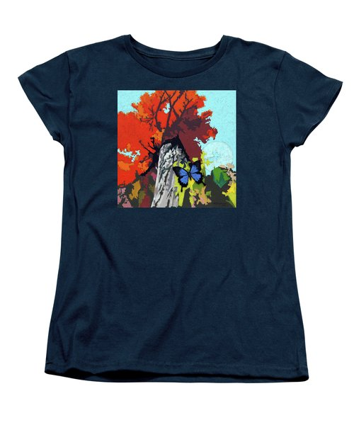 Last Butterfly Before Winter Women's T-Shirt (Standard Cut) by John Lautermilch